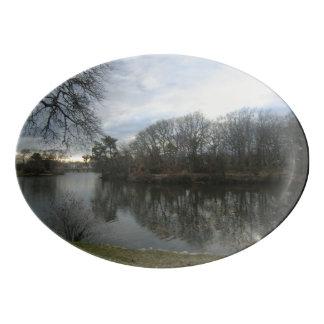 Spring Lake in Winter Platter