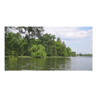 Spring lake photo greeting card