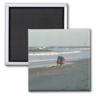 Spring Lake Surfer Seascape Magnet