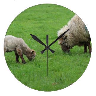 Spring Lamb and Sheep Clock