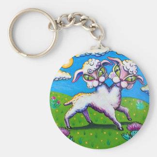 Spring Lamb Key Chain