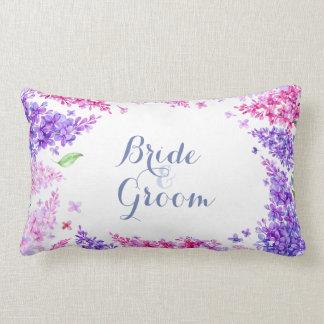 Spring Lilac Flower Blossom-Floral Wedding Forever Lumbar Pillow