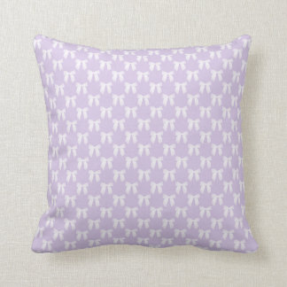 Spring Lilac Pastel With White Bows Cushion