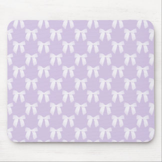 Spring Lilac Pastel With White Bows Mouse Pad