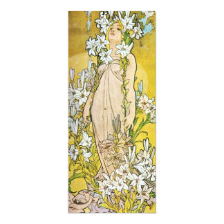 "Spring Lily 4"" X 9.25"" Invitation Card"