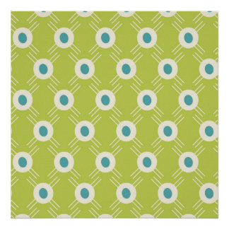Spring Lime Green Blue Circles Mother s Day Gifts Poster