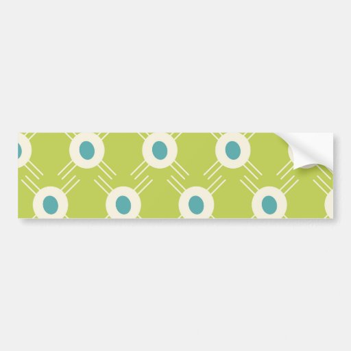 Spring Lime Green Blue Circles Mother's Day Gift Bumper Stickers