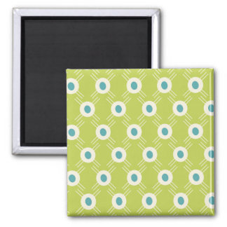 Spring Lime Green Blue Circles Mother's Day Gift Refrigerator Magnets