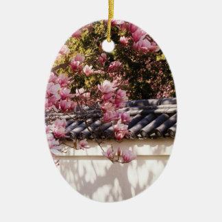 Spring -  Magnolia Ceramic Oval Decoration