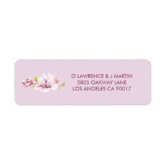 Spring Magnolias Watercolor Floral Return Address Label