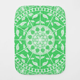 Spring Mandala Burp Cloth