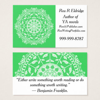 Spring Mandala Business Card