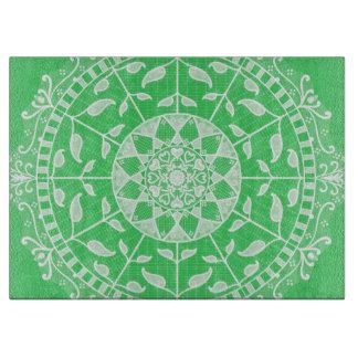 Spring Mandala Cutting Board