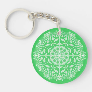 Spring Mandala Key Ring