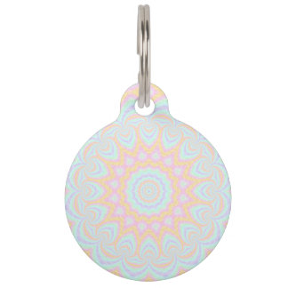 Spring Mandala Pet Name Tag