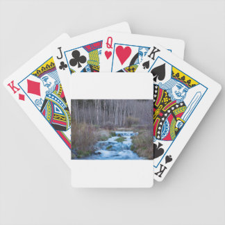 Spring Melt Off Flowing Down From Bonanza Bicycle Playing Cards