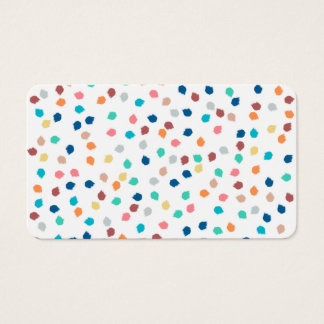 Spring modern polka dots brushstrokes pattern business card