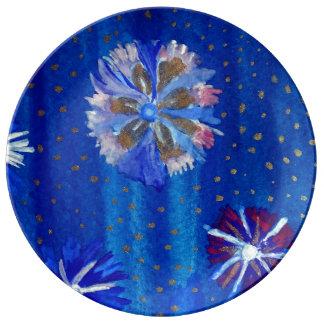 Spring Mood Flowers  Decorative Porcelain Plate