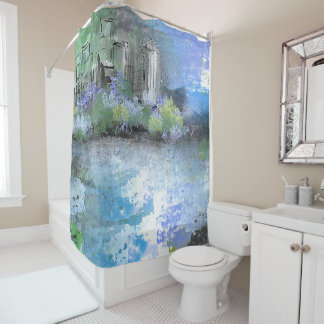 Spring Morning in the City Shower Curtain