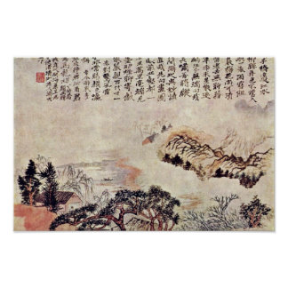 Spring On The Min River By Tao Chi (Best Quality) Poster