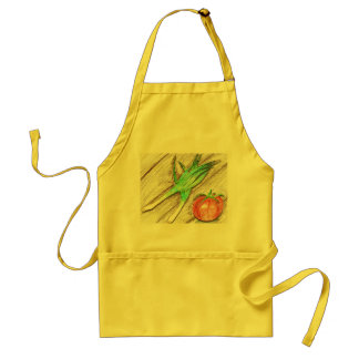 Spring Onion and Tomato Standard Apron