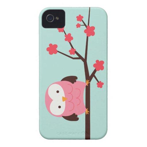 Spring Owl Case-Mate iPhone 4 Cases