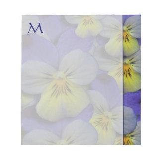 Spring Pansies Monogram Note Pad