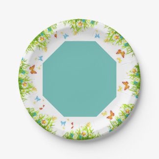 spring paper plate 7 inch paper plate