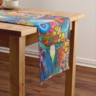 Spring Paradise Hummingbirds & Flower Table Runner