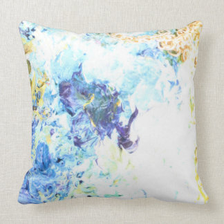 Spring Pastels and Blue Waves by Artandra Cushion
