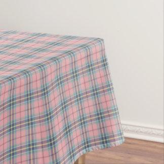 Spring Pastels Pink, Blue, Aqua Plaid Tablecloth