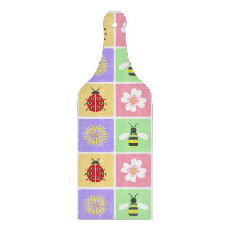 Spring Patches Glass Cutting Board