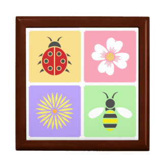 Spring Patches Tile Box Large Square Gift Box