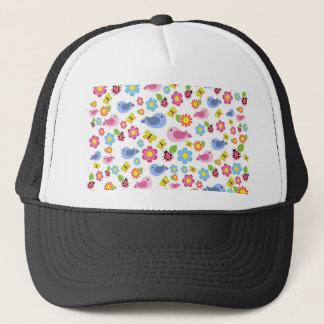Spring pattern trucker hat