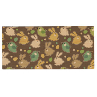 spring pattern with easter eggs,birds wood USB 2.0 flash drive