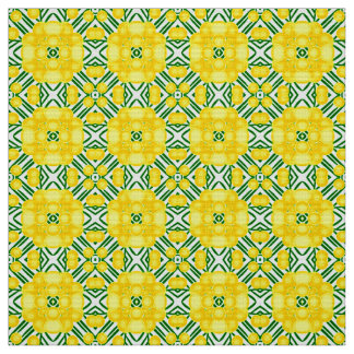 Spring pattern with mimosa fabric