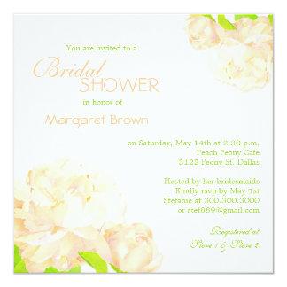 Spring Peach Peony Boho Bridal Shower Card