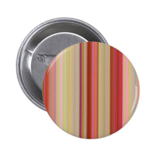 Spring Peachy Stripes 6 Cm Round Badge