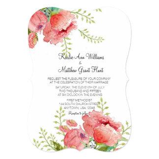 Spring Peony Wedding Invitation