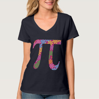 Spring Pi Flowery Colorful Pi Day Gift T-Shirt