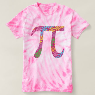Spring Pi © Flowery Colorful Pi Day Tie-Dye Tee