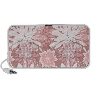 Spring  pink flora patterns travelling speaker