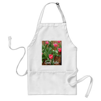 Spring Pink Tulips by CricketDiane Standard Apron
