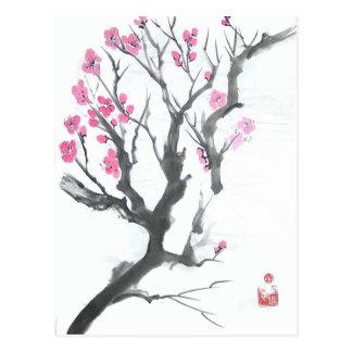 Spring Plum Blossom Branch Postcard