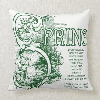 Spring Poem William Blake Lithograph Satyr Lamb Cushion