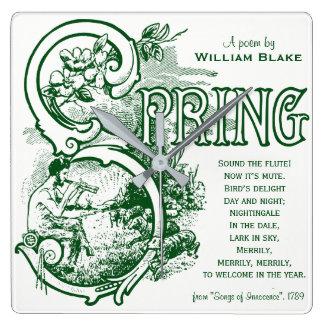 Spring Poem William Blake Victorian Art Satyr Lamb Clock