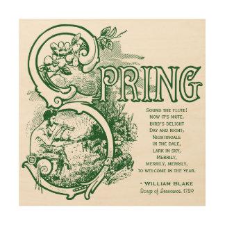 Spring Poem William Blake Victorian Art Satyr Lamb Wood Canvases