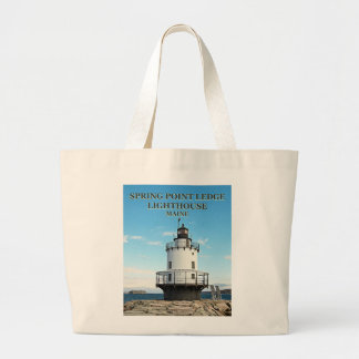 Spring Point Ledge Lighthouse, Maine Tote Bag