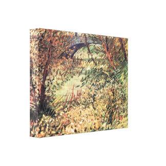 Spring Pont de Clichy shores by Vincent van Gogh Gallery Wrap Canvas