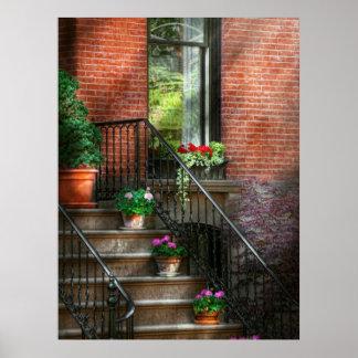 Spring - Porch - Hoboken in Spring Poster